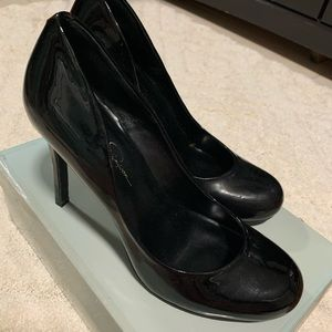 Jessica Simpson Calie Black Patent Pump
